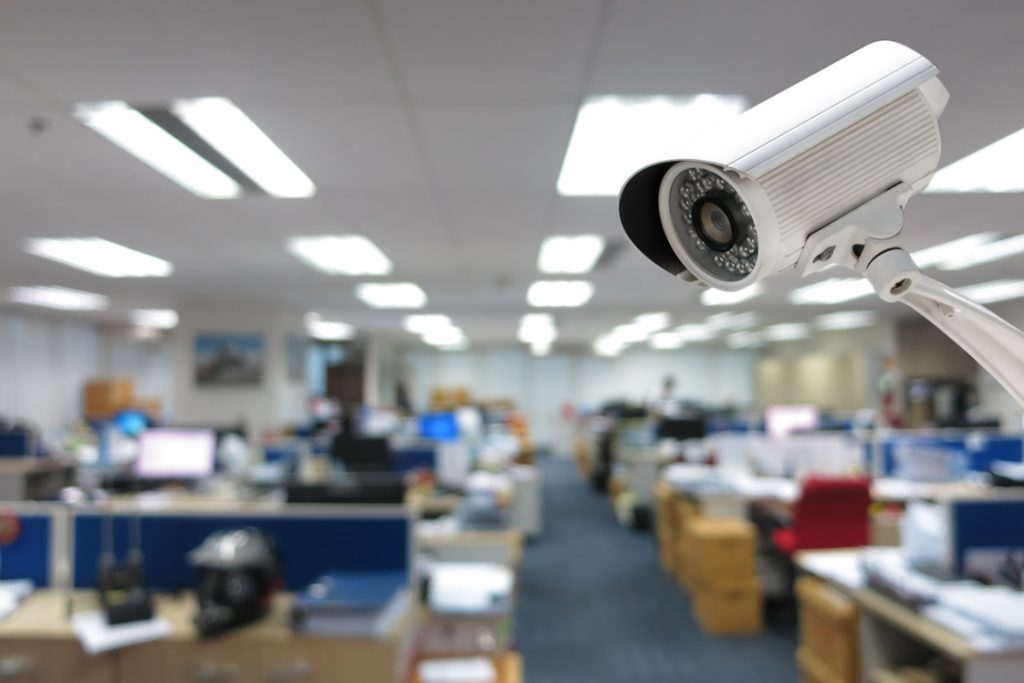 security cameras in a business