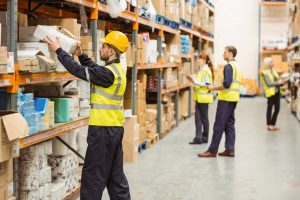 commercial business locksmith services warehouse workers