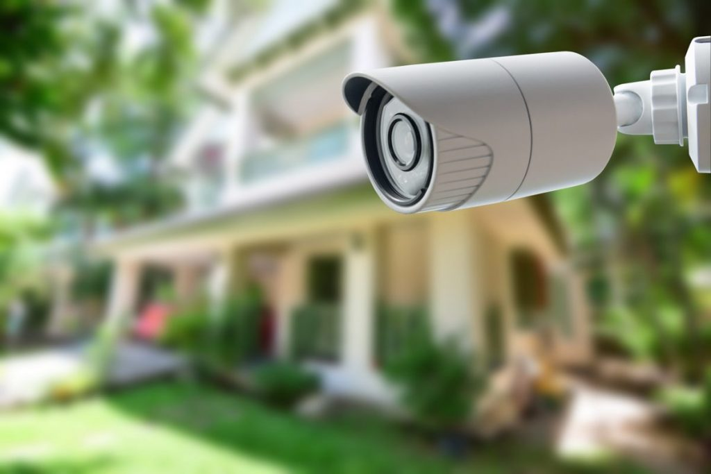 security cameras at a home